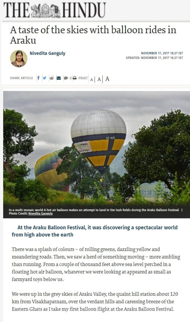 A taste of the skies with balloon rides in Araku