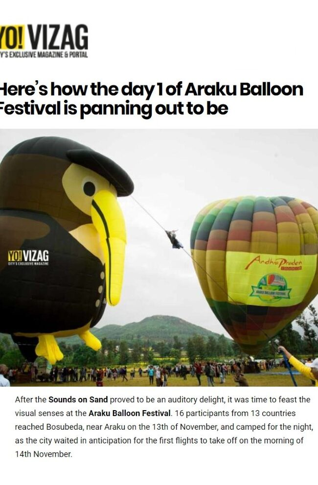Here's how the day 1 of Araku Balloon Festival is panning out to be