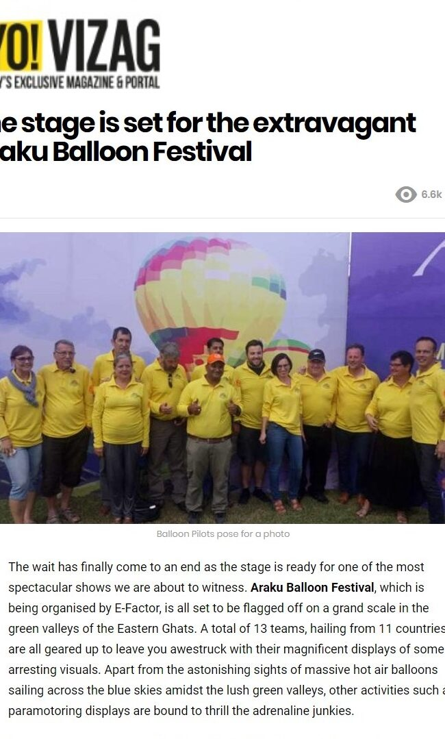 The stage is set for the extravagant Araku Balloon Festival