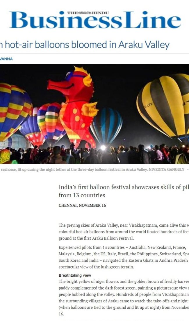 When hot-air balloons bloomed in Araku Valley